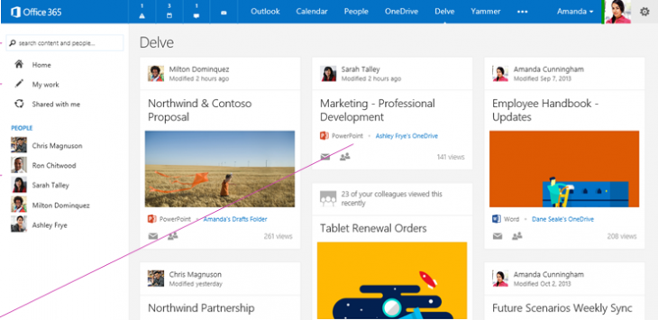 Microsoft rolls out Office Delve, a personalized search interface for Office 365