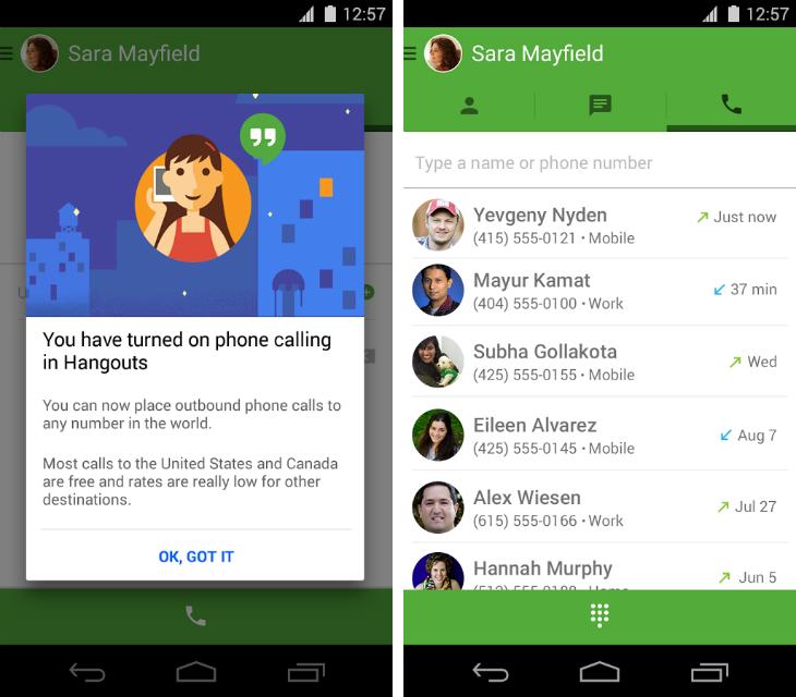 Google Hangouts Gets Free US and Canada Phone Calls