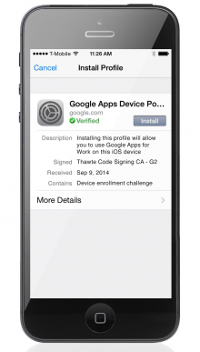 Google Announces an iOS Device Management Tool