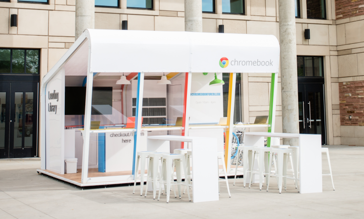 Google is promoting Chromebooks to US students with a traveling Lending Library