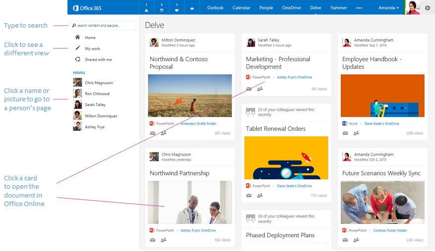 Microsoft Releases Office Delve A Personalized Search