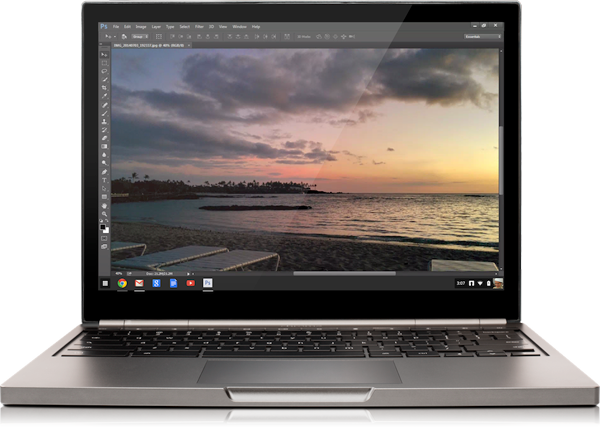 Google's Chromebooks can now stream Adobe Photoshop