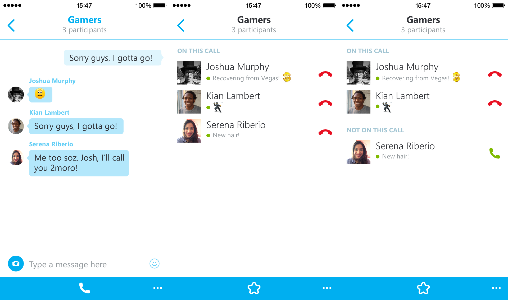 group voice chat skype ipad app