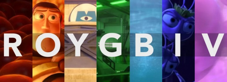 Pixar's palette explored in captivating color-blocked supercut