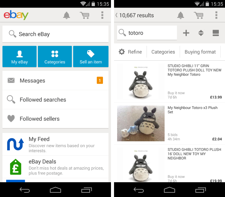 This New App Lets You Play And Compete To Design Your: EBay For Android Gets A Redesign And In-App Notifications