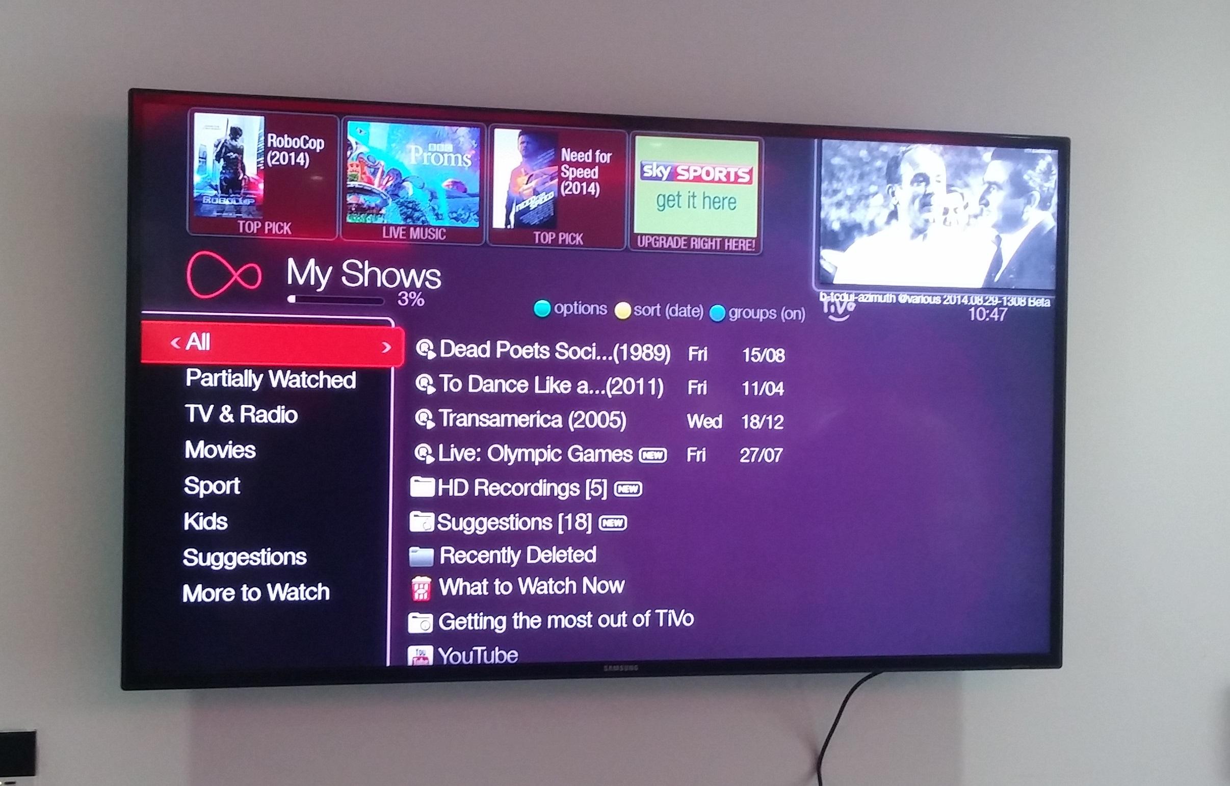 Virgin Media Completely Overhauls TiVo UI and Navigation