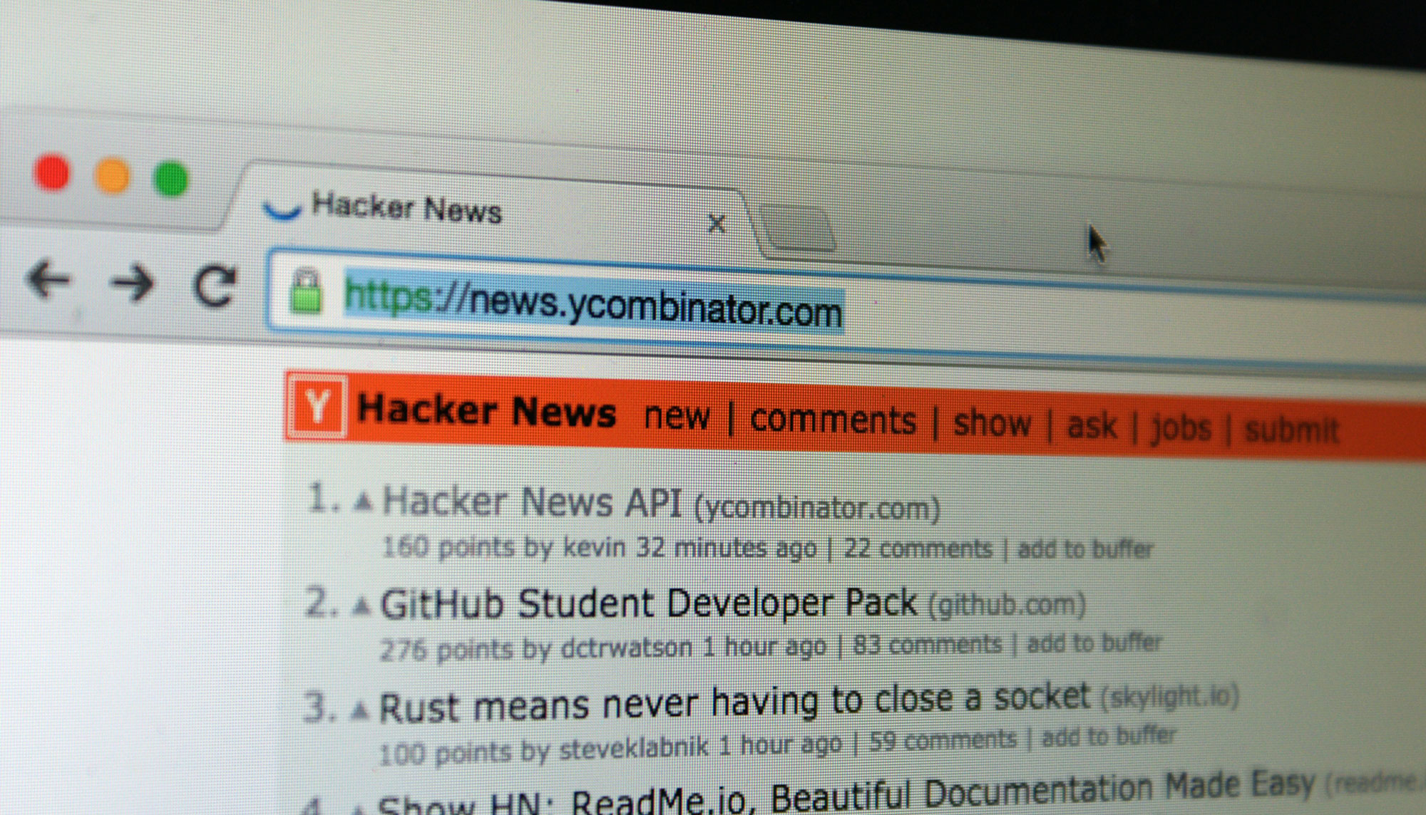 Hacker News Launches Read-Only API