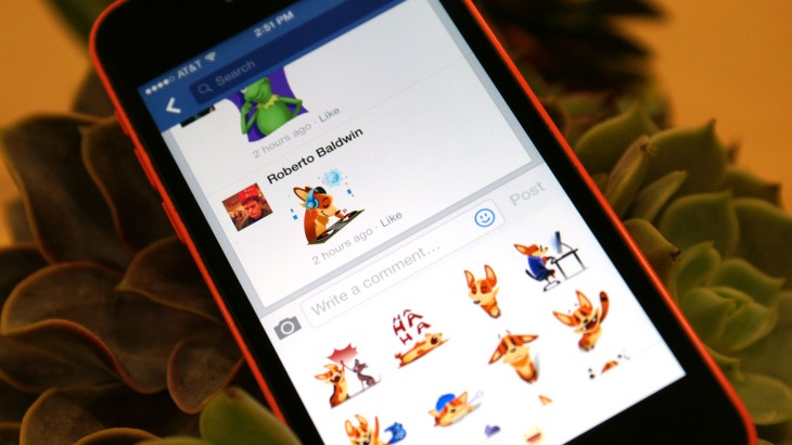 Facebook stickers are coming to Timeline, Group and Event comments