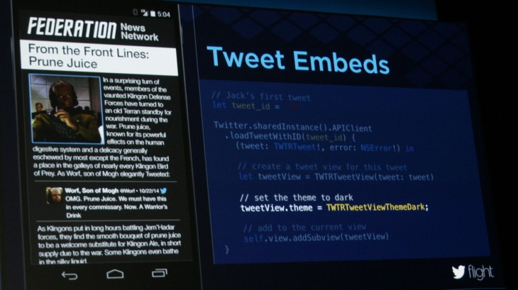 Twitter embeds