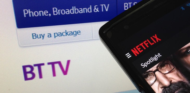 Netflix will be offered as part of a subscription bundle with UK telecoms and TV giant BT