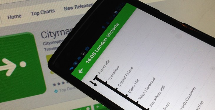 Citymapper now lets you see where you are in relation to upcoming train or bus stops