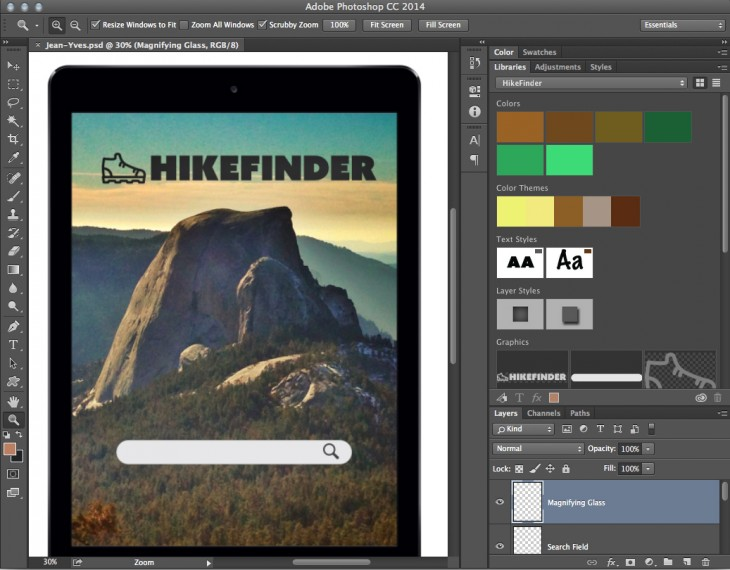 Creative Cloud Libraries in Photoshop CC