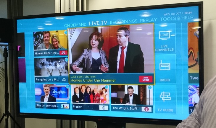 UK operator EE's TV service is now open for in-store sign-ups
