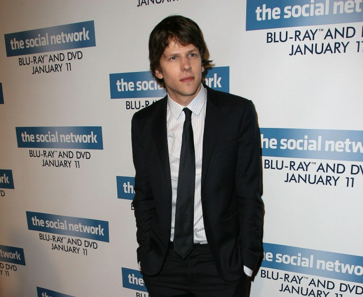 Eisenberg, or 'not Zuckerberg', promoting The Social Network