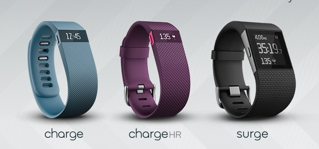 Fitbit launches 3 new activity trackers: the Charge, Charge HR and Surge