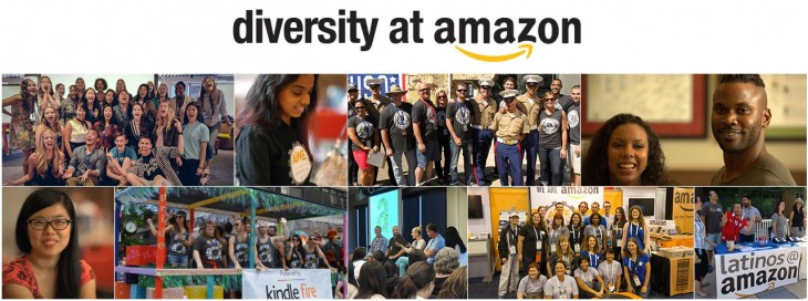 Amazon Diversity Report: 63% male and 60% white