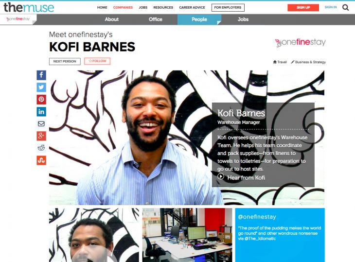 OneFineStay employee - Kofi