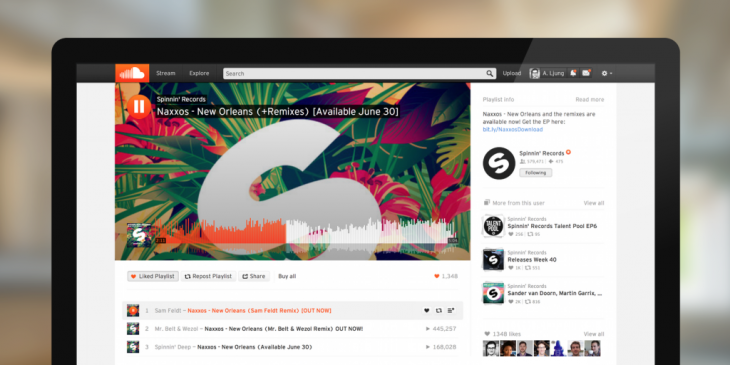 SoundCloud redesigns its Web interface to match its iOS and Android apps