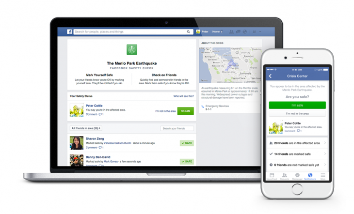 Facebook 'Safety Check' helps you tell friends and family you're safe during natural ...
