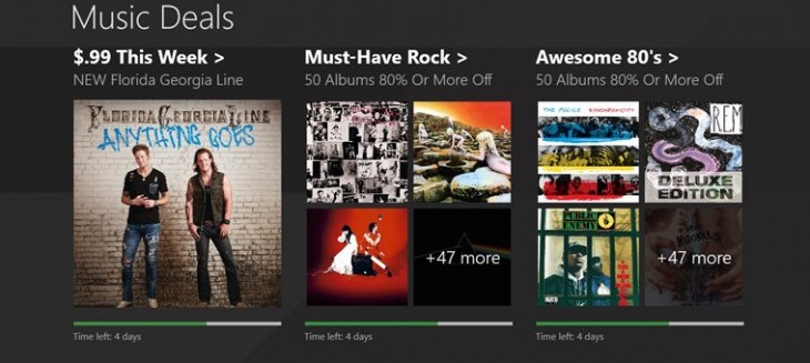 Microsoft releases a Music Deals app for $2 albums on Windows devices