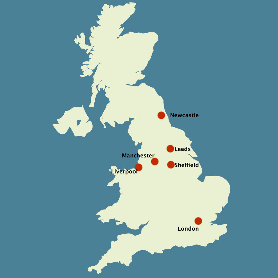 Where Is London On The Map Of England.Can A Technorth Cluster Boost The North Of England