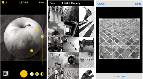 Lenka monochrome camera app upgrade adds controls to a lean interface