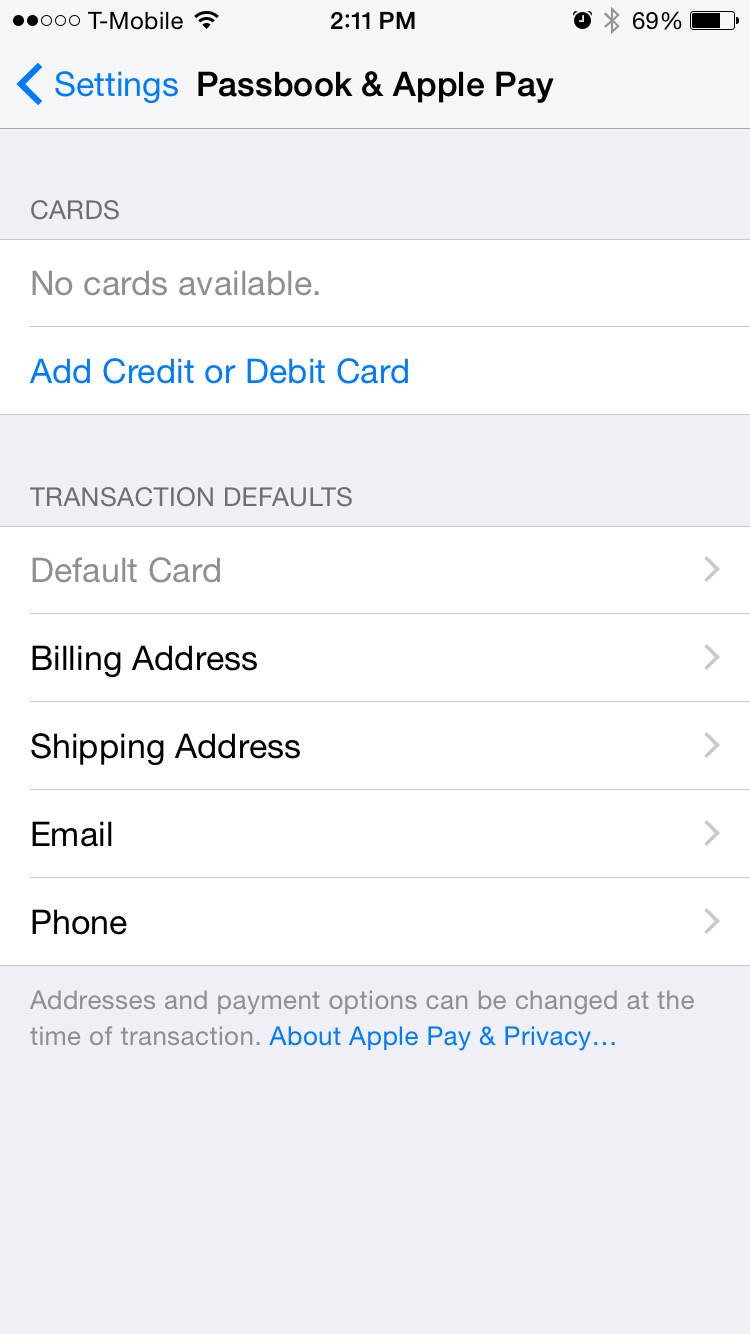 how to change apple pay locations