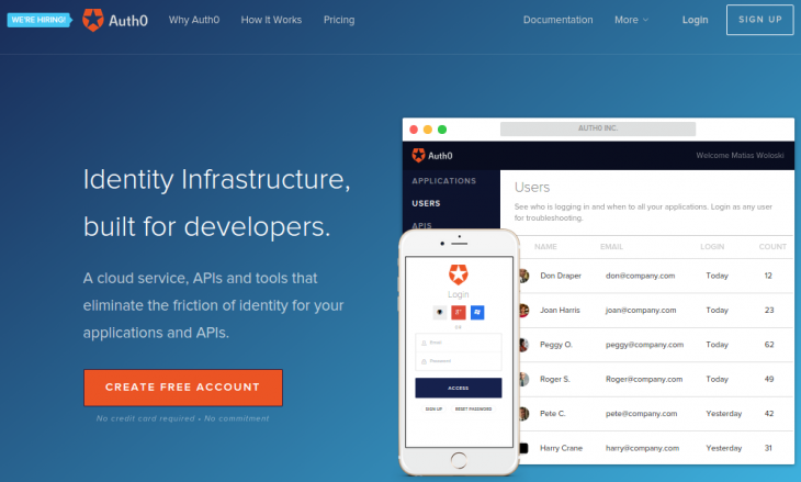 auth0 home