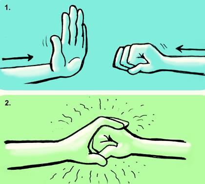 awkward handshake
