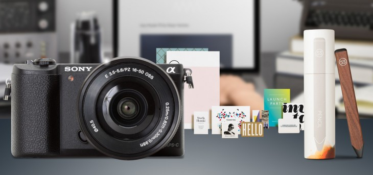 Designers' dream giveaway: Win a Sony Alpha a5100, $300 in MOO supplies or a FiftyThree digital ...