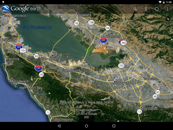 Google earth for android gets a new 3d renderer earth n9 before gumiabroncs Gallery