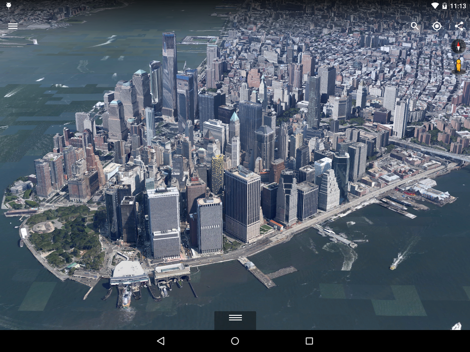 Google Earth For Android Gets A New D Renderer - Nyc map google earth