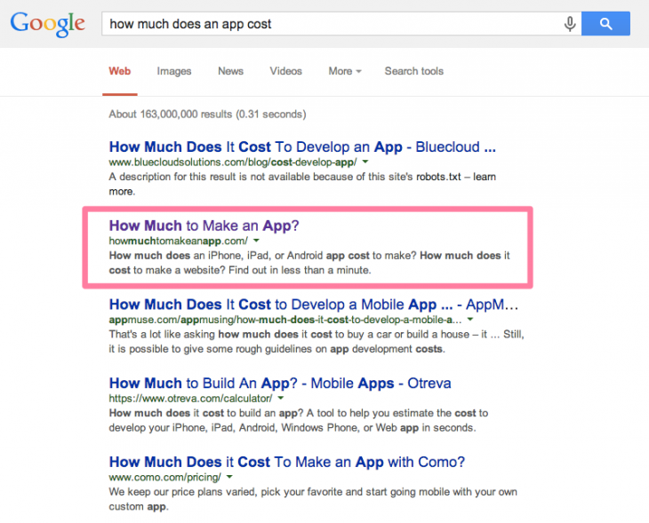 how-much-to-make-an-app-google-search-results