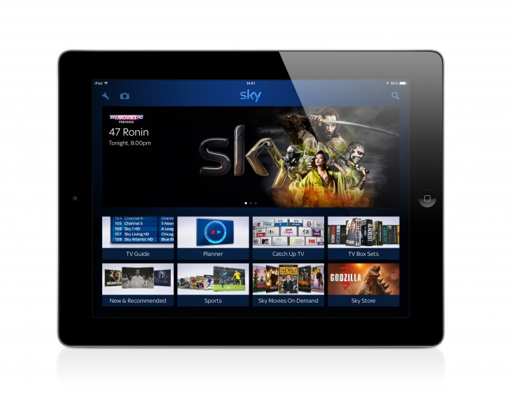 Sky+ iOS and Android apps now allow you to display photos directly on your TV