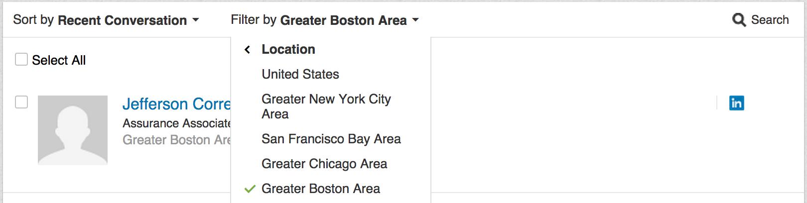 linkedin locations