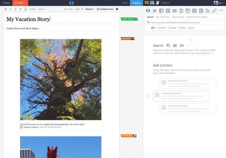 Livefyre revamps Storify with Enterprise launch, real-time collaboration and a new story editor