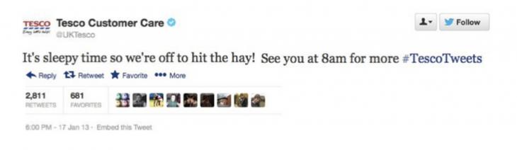 tesco hitting the hay