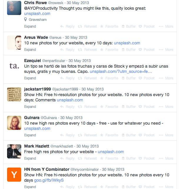 unsplash-tweets