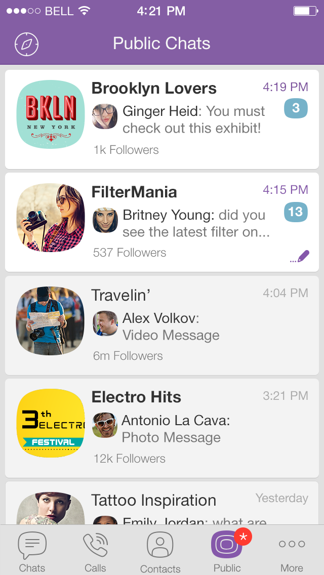 Viber Launches Public Chats for Listening in on Celebrities