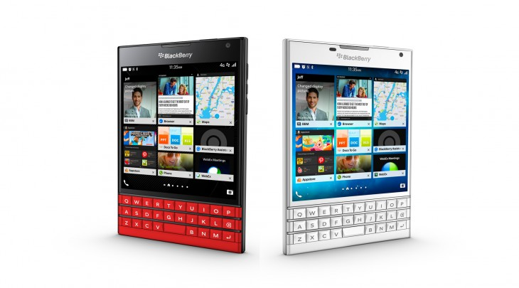 White and red Blackberry Passports available for pre-order