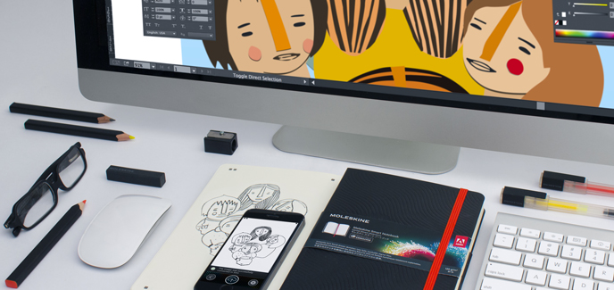 Moleskine launches Adobe Creative Cloud Connected Smart Notebook targeted to on-the-go designers