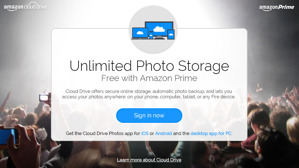 Amazon gives Prime members unlimited full resolution photo storage