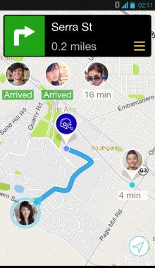Android Map-Meetup Screenshot