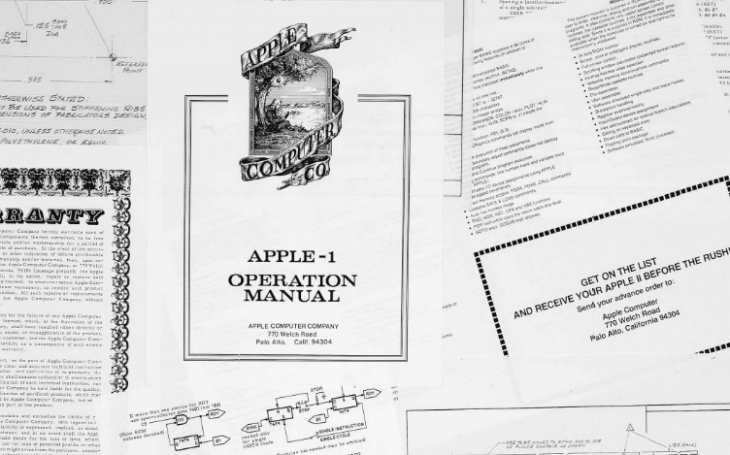 Apple co-founder's personal archive, including Apple II blueprints, will be auctioned next month ...