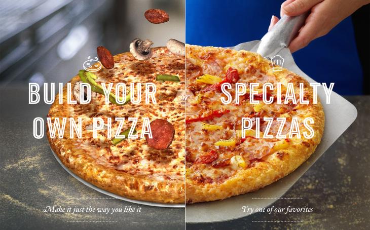 Dominos pizza press font