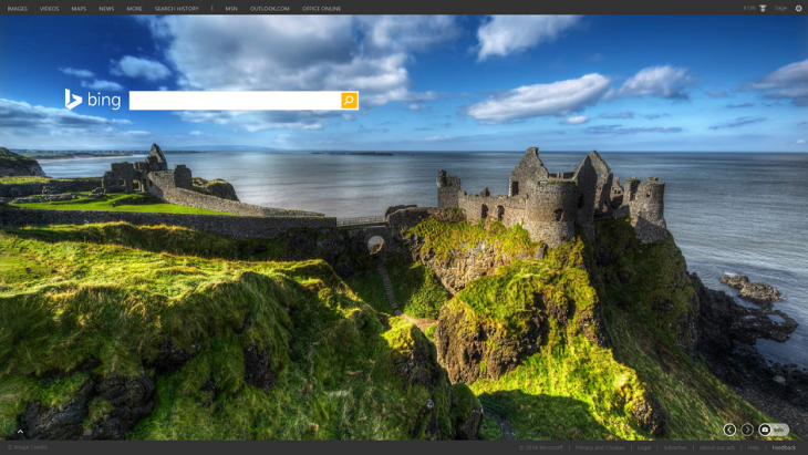 Bing's homepage gets HD featured images and easy access to Office apps