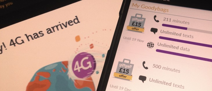 UK operator GiffGaff is now offering customers 4G connectivity, from £12 per month