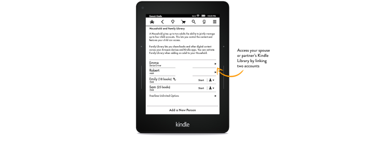 Amazon Kindle update lets you share books with the whole family