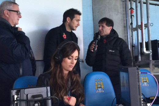 City player Frank Lampard is interviewed for City TV Live.