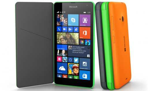 The Microsoft Lumia 535 with covers